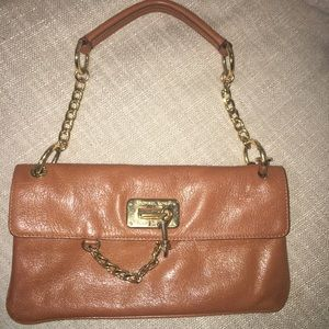Michael Kors leather chained  clutch